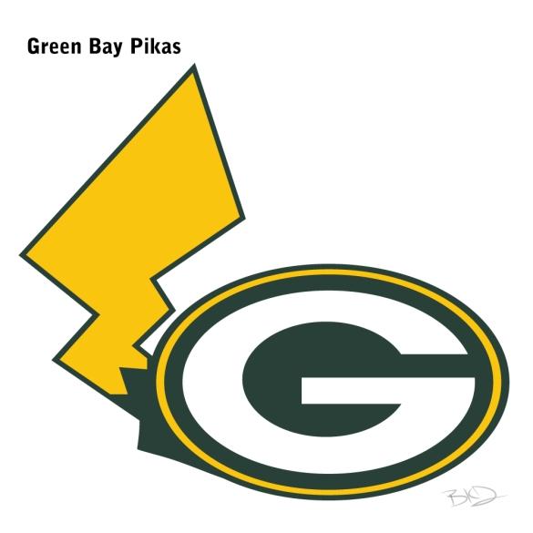 NFL Team: Green Bay Packers Pokémon: Pikachu