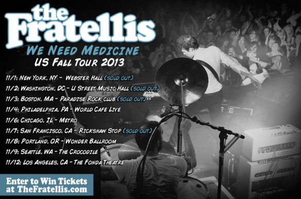 Here are the dates for The Fratellis' fall tour in the US! (Source)